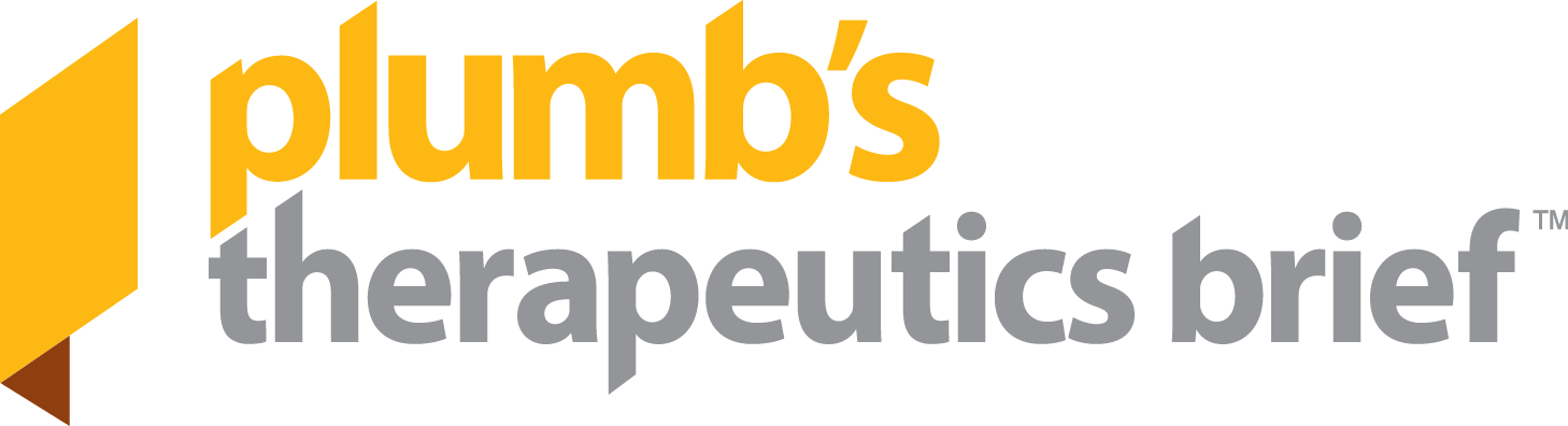 Welcome to Plumb's Therapeutics Brief