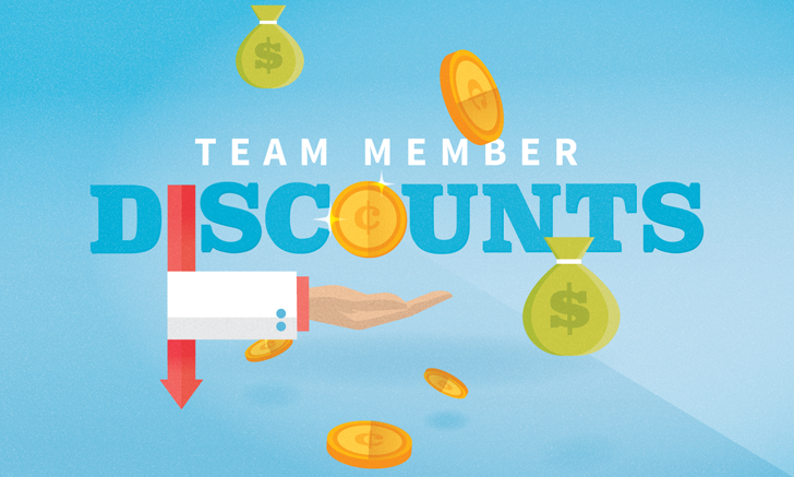 Team Member Discounts