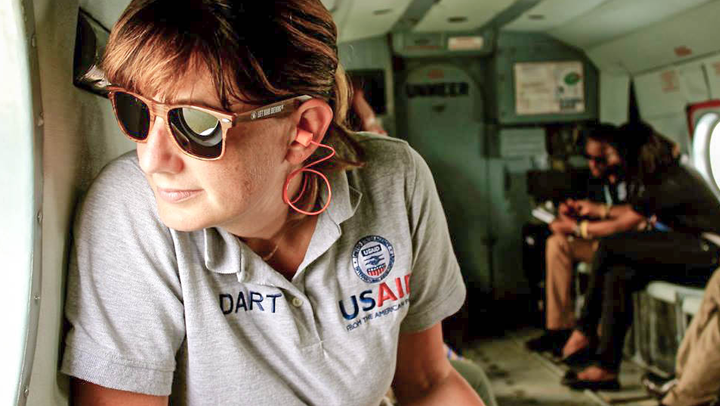 As a part of the author's time as health advisor with USAID OFDA's Ebola Disaster Assistance Response Team, she helped complete border health assessments, traveling by helicopter to visit the most remote areas of Sierra Leone. Photos courtesy of Shannon Mesenhowski, DVM, MPH