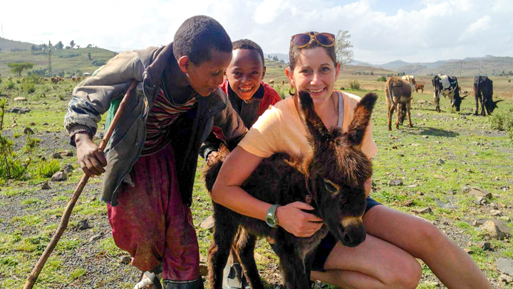 While in Ethiopia, working with USAID in efforts to improve resilience in Africa, we came across young livestock keepers with their cattle and donkeys. Photos courtesy of Shannon Mesenhowski, DVM, MPH